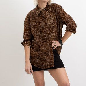 Vintage Liz Claiborne Animal Print Sheer Shirt